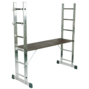 Lyte 4-Way Combination Platform Ladder Aluminium Alloy 2 x 6 Rungs 2.81m