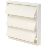 Manrose Square Flap Vent White 100mm