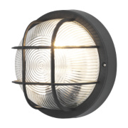 50165 Bulkhead Wall Light Black 60W