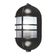50161 Caged Bulkhead Wall Light Black & Grey 27W