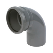 92.5°(87.5°) Bend Single Socket Grey SP161