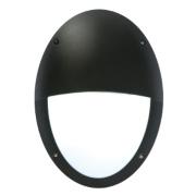 50217 Oval Eyelid Bulkhead Black & White 23W