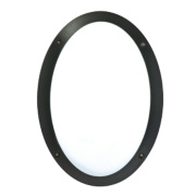 50216 Oval Bulkhead Black & White 23W