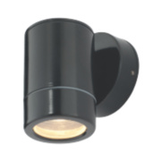 35W Satin Black Cave Dimmable Wall Light