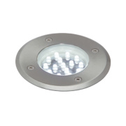 Circulo LED Ground Light Brushed Stainless Steel W