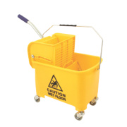 Mobile Mop Bucket Yellow 20Ltr