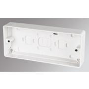 MK 3-Gang Surface Pattress Box White 30mm