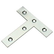 Tee Plates Zinc-Plated 77 x 16 x 76mm Pack of 10