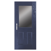 Unbranded Lytham Composite Front Door Clear Glass Blue GRP 840 x 2055mm