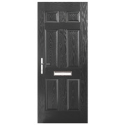 Unbranded Birkdale Composite Front Door Black GRP 880 x 2055mm
