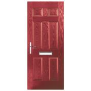 Birkdale Composite Front Door Red GRP 880 x 2055mm