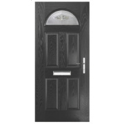 Turnberry Single Light Composite Front Door Black GRP 880 x 2055mm