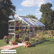 Halls Popular Framed Greenhouse Aluminium 6 x 8 x