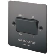 LAP 10A 3-Pole Fan Isolator Switch Black Nickel