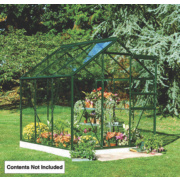 Halls Popular Framed Greenhouse Green 5' 10 x 5' 10 x 6' 6