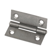 Steel Fixed Pin Hinges Self-Colour 50 x 38mm Pack of 2
