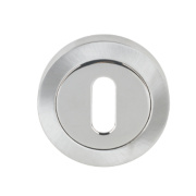 Jedo Escutcheon Polished / Satin Chrome 50mm