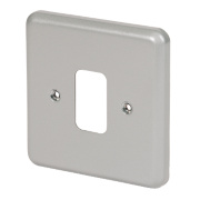 MK 1-Gang Front Plate Metal-Clad