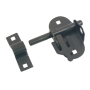 Oval Pad Bolt Black 100mm