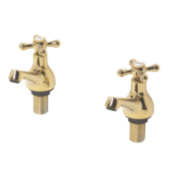 Swirl Traditional Gold Bath Taps Pair