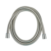 Moretti D Locking Brass Shower Hose Chrome 16mm x 1.5m