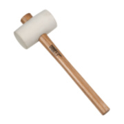 Forge Steel Rubber Mallet White 16oz