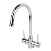 Swirl Fresco Deck Sink Mono Mixer Kitchen Tap Chrome