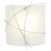 Largo Bathroom Wall Light Chrome & Opal Glass 40W