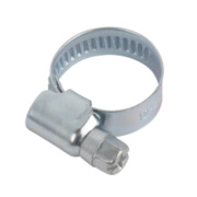 Blue Zinc-Plated Hose Clips 12-20mm Pack of 10