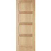 Jeld-Wen Shaker 4-Panel Interior Door Oak Veneer 686 x 1981mm