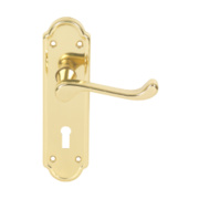 Urfic Ashworth Mortice Handle Pair Polished Brass