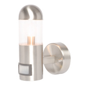 Sigma Brushed Stainless Steel Wall Light with PIR 40W