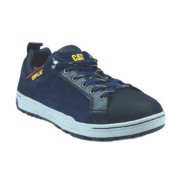 Cat Brode Lo Safety Shoes Navy Size 6