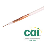 Labgear PF100 Satellite Coaxial Cable 100m White