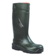 Dunlop Purofort+ C762933 Safety Wellington Boots Green Size 3