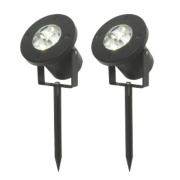 Windsor LED Spike Lights Matt Black & White 3W Pack of 2