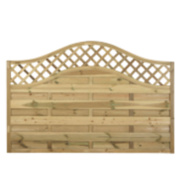 Forest Prague Wave-Top Lattice Fence Panels 1.8 x 1.2m Pack of 8