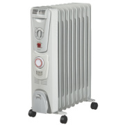 NDB-1C-20TS 9 Fin Oil-Filled Radiator with Timer 2000W