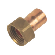 End Feed Straight Tap Connector 15mm x ½