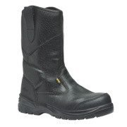 Site Gravel Gravel Rigger Safety Boots Black Size 6