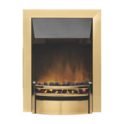 Dimplex Kansas Traditional Inset Electric Fire Brass effect fret and trim with black canopy 2kW