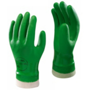Showa Best 600 PVC Waterproof Gloves Green Medium