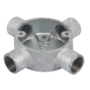 20mm 4 Way Galvanised Conduit Box