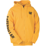 CAT CW10840 Zip Hooded Sweatshirt Yellow S
