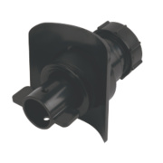 McAlpine Mechanical Pipe Boss Connector Black 32mm