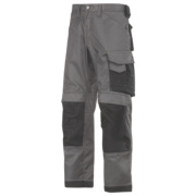 Snickers 3312 DuraTwill Non Holster Trousers Grey / Black 33
