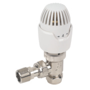 Drayton RT212 White & Chrome TRV 15mm Angled