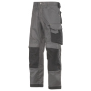 Snickers 3312 DuraTwill Non Holster Trousers Grey / Black 38
