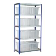 Barton Ecorax Shelving Silver/Blue 900 x 450 x 1800mm