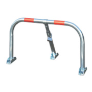 Mottez Parking Barrier with Padlock Zinc